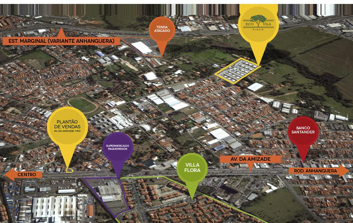 Ecovila Sumaré Localização